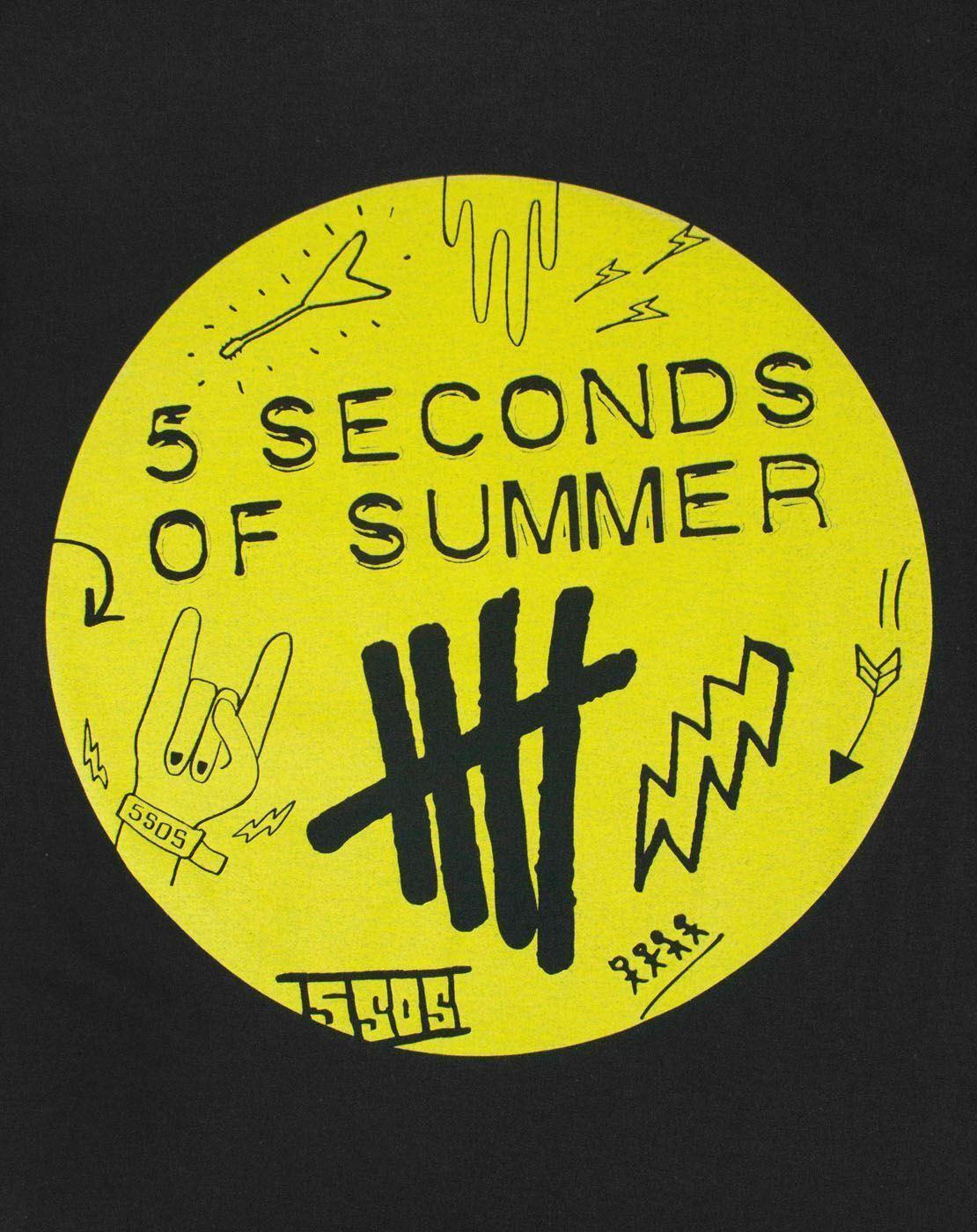 5-Seconds-Of-Summer-Scribble-Logo-Women-039-s-T-Shirt thumbnail 6