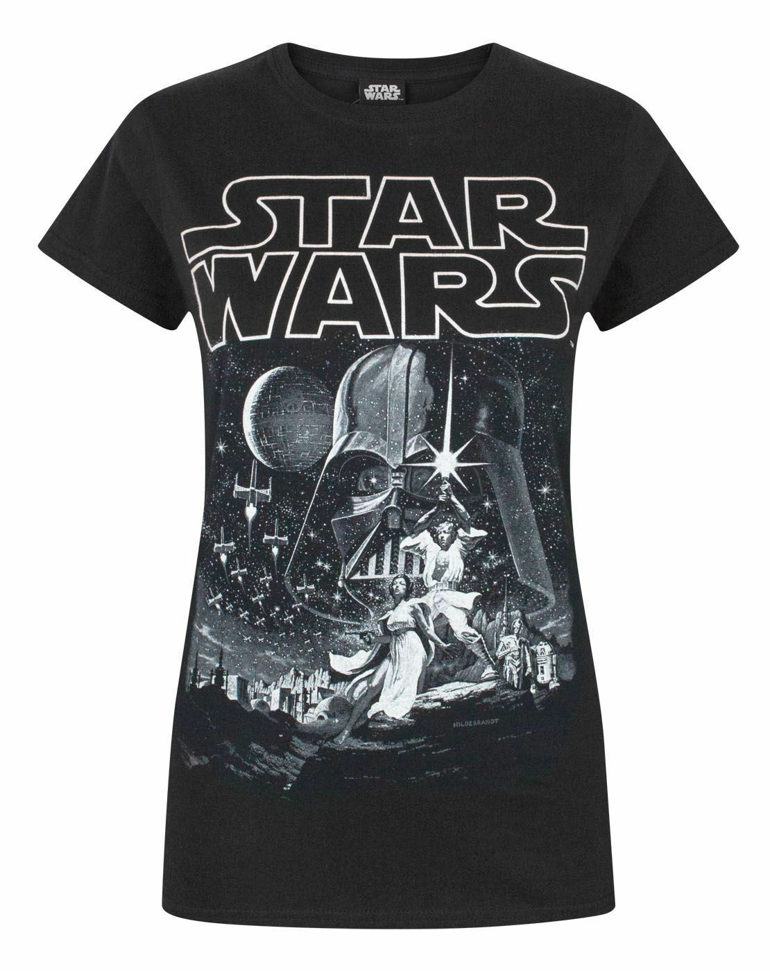thumbnail 8 - Star-Wars-A-New-Hope-Poster-Women-039-s-Black-Tee-T-Shirt
