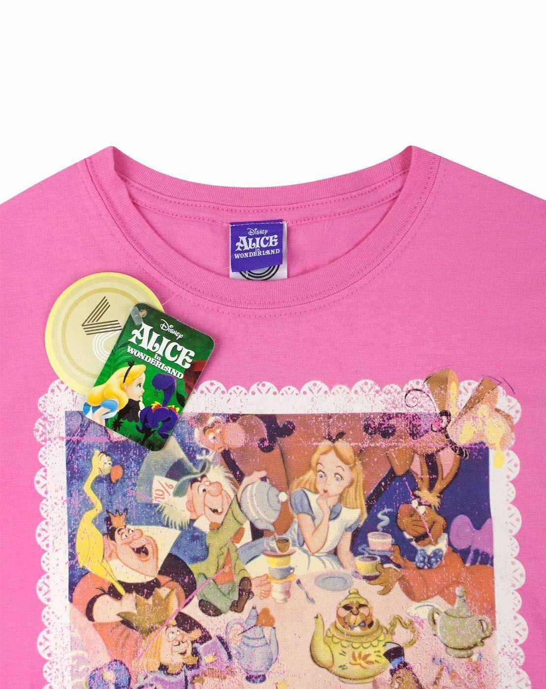 Alice-In-Wonderland-Poster-Women-039-s-T-Shirt thumbnail 8