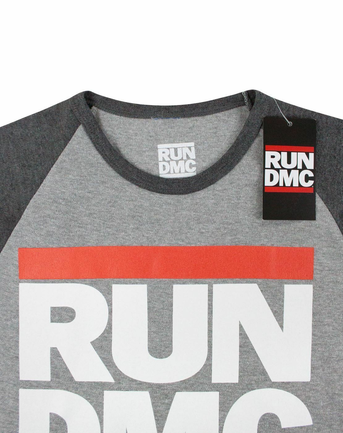 Run-DMC-Logo-Women-039-s-Raglan-T-Shirt thumbnail 8