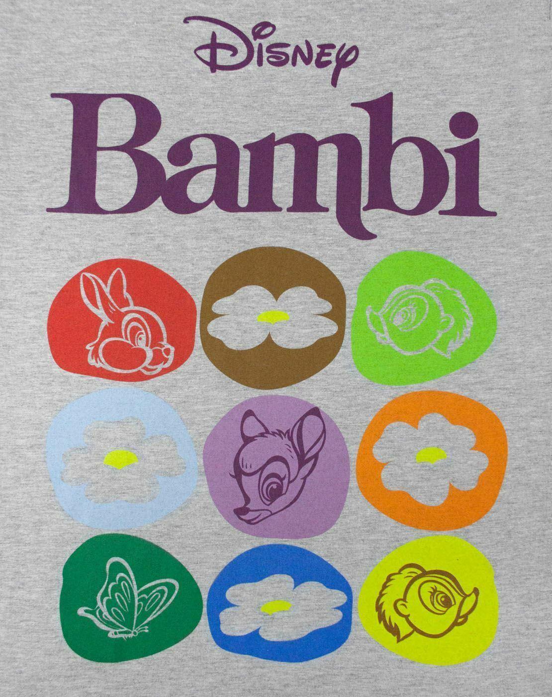 Disney-Bambi-Motif-Women-039-s-T-Shirt thumbnail 7