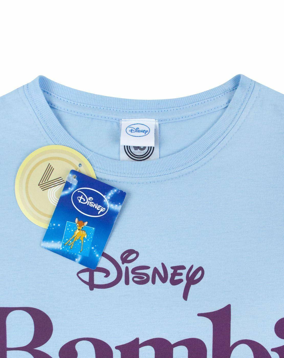 Disney-Bambi-Motif-Blue-Women-039-s-T-Shirt thumbnail 8