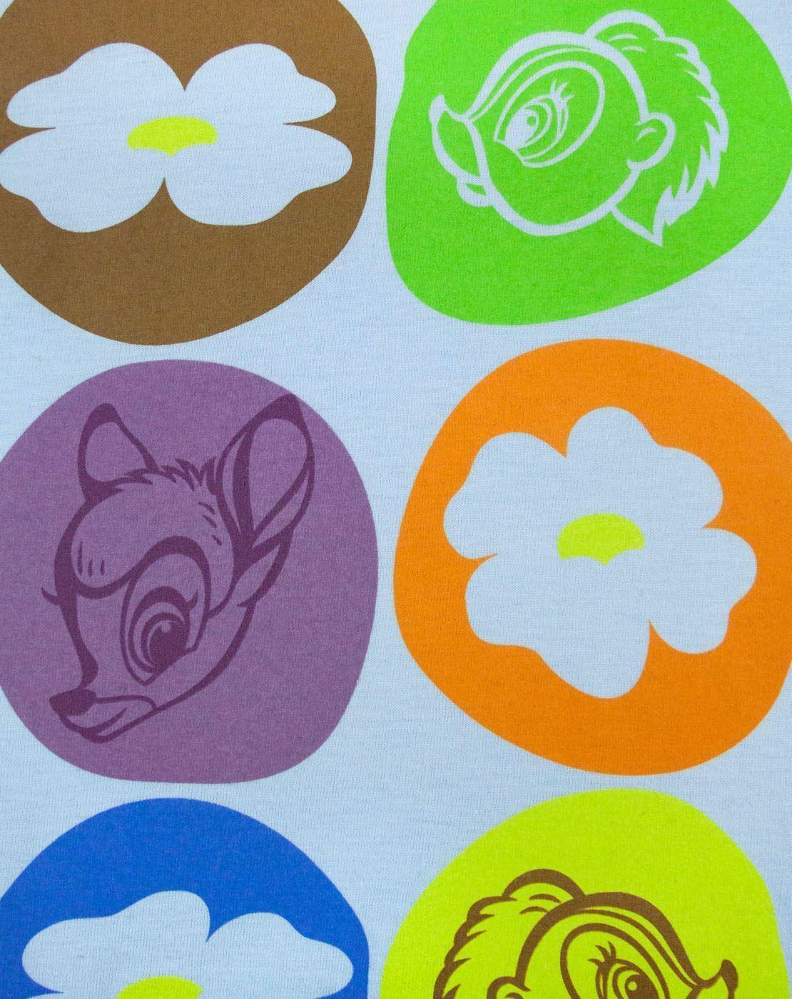 Disney-Bambi-Motif-Blue-Women-039-s-T-Shirt thumbnail 7
