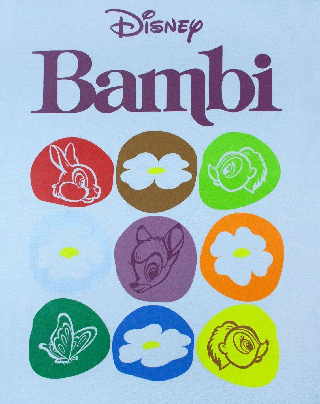 Disney-Bambi-Motif-Blue-Women-039-s-T-Shirt thumbnail 6