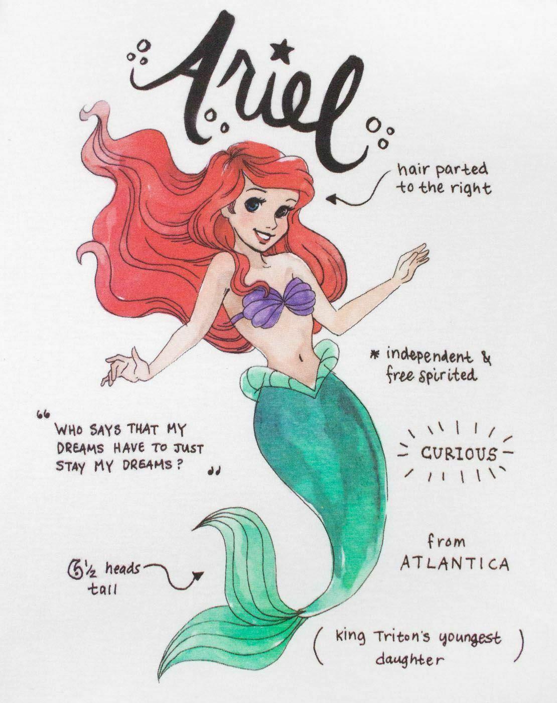 Disney-The-Little-Mermaid-Ariel-Women-039-s-T-Shirt thumbnail 7
