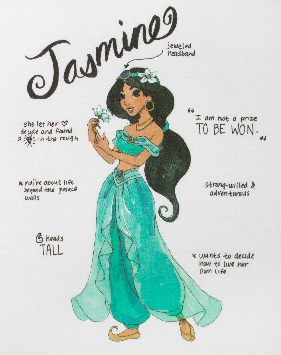 Disney-Aladdin-Jasmine-Women-039-s-T-Shirt thumbnail 7
