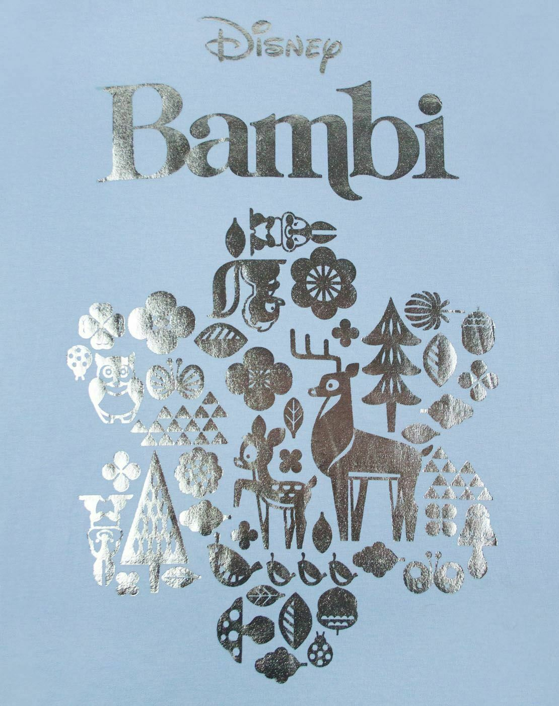 Disney-Bambi-Silver-Foil-Women-039-s-T-Shirt thumbnail 7