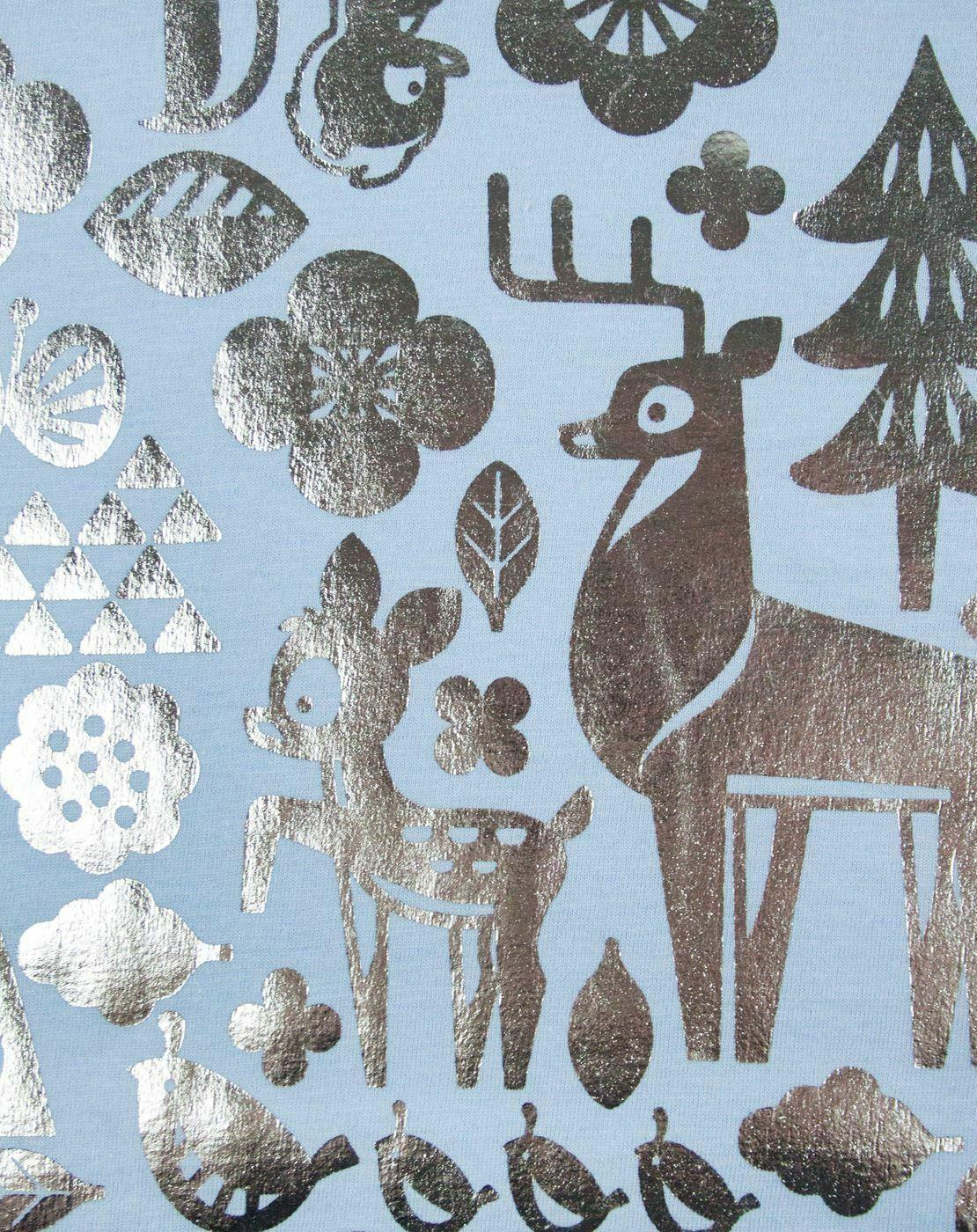 Disney-Bambi-Silver-Foil-Women-039-s-T-Shirt thumbnail 8