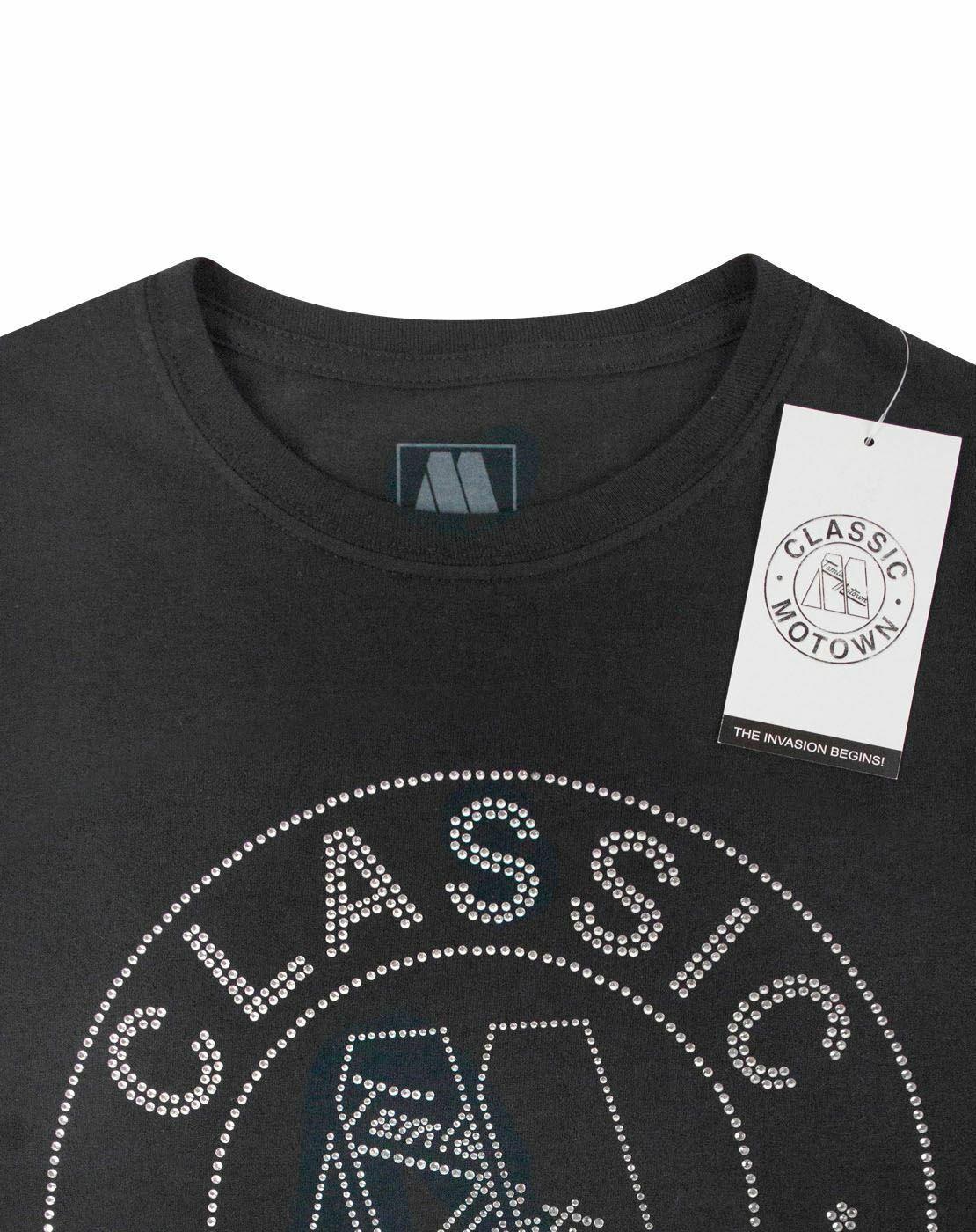 Motown Ladies Fashion T-Shirts Classic With Rhinestone Application