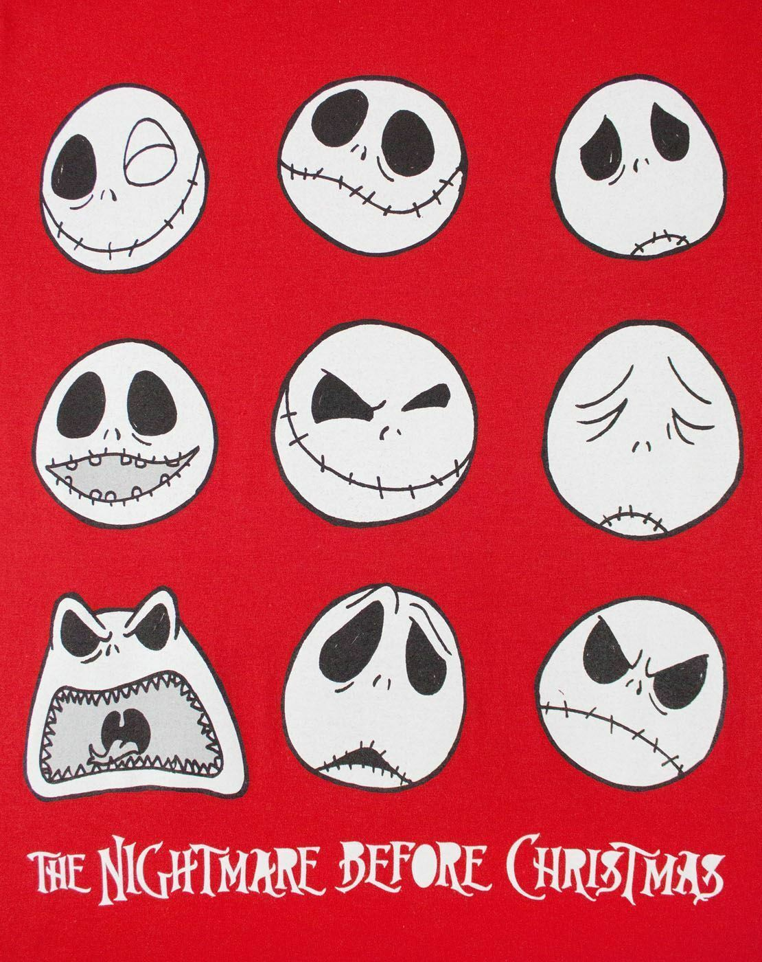 Nightmare-Before-Christmas-Jack-Expressions-Women-039-s-T-Shirt thumbnail 8