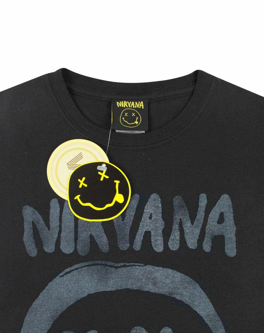 Nirvana-Smiley-Logo-Women-039-s-T-Shirt thumbnail 8