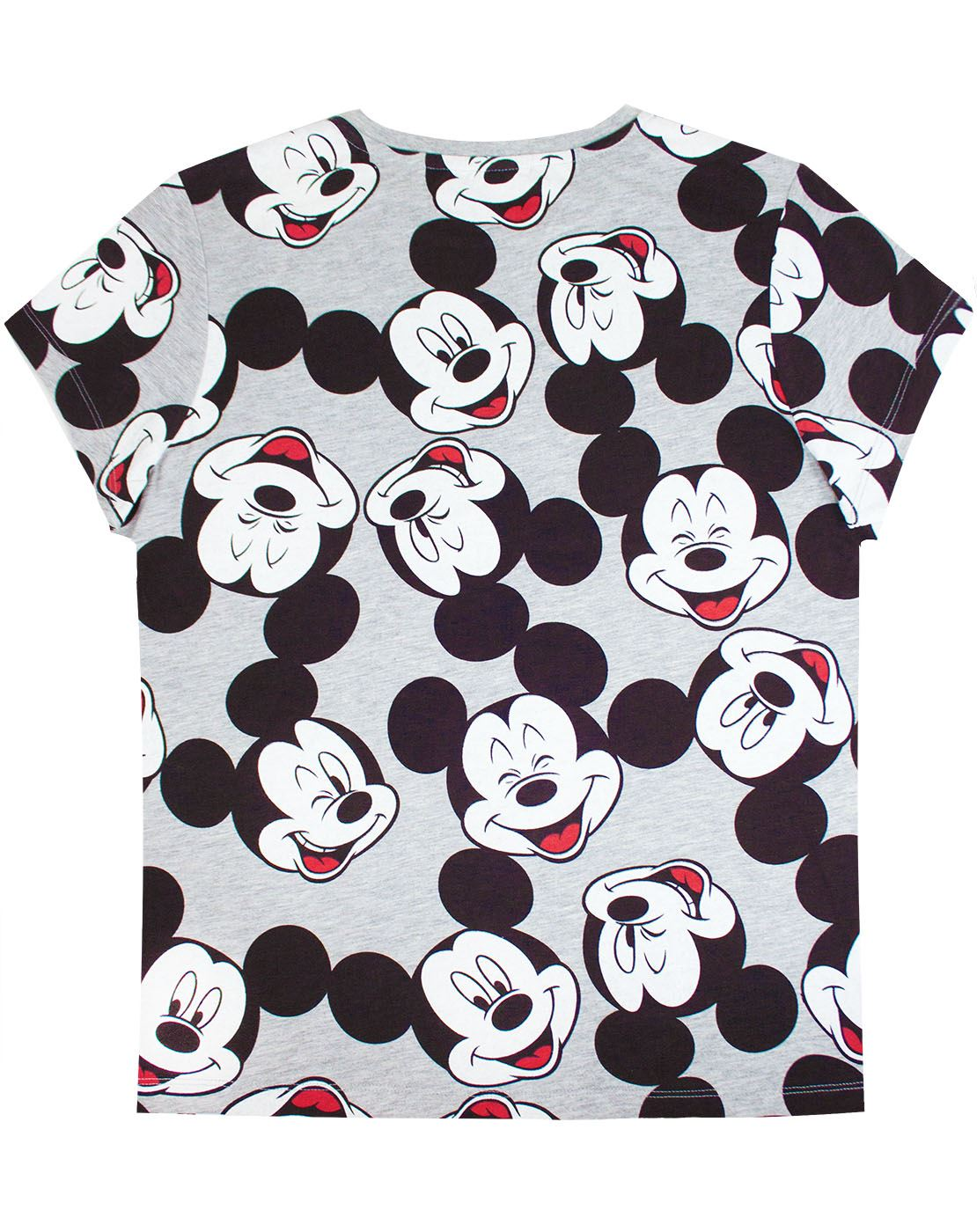 Disney-Mickey-Mouse-Character-All-Over-Women-039-s-Ladies-Boyfriend-Fit-T-Shirt thumbnail 5