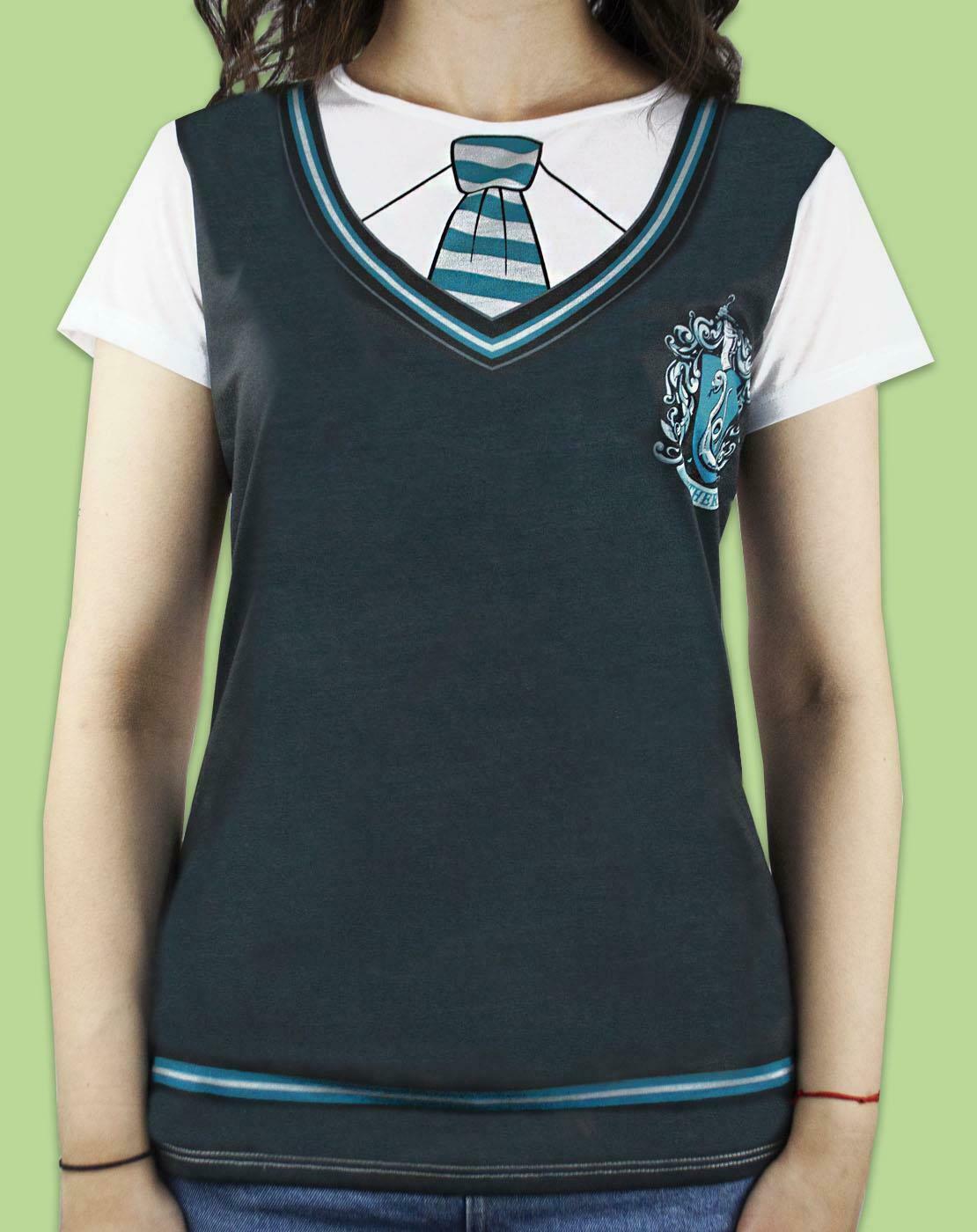 Harry-Potter-Slytherin-Costume-Womens-T-Shirt thumbnail 7