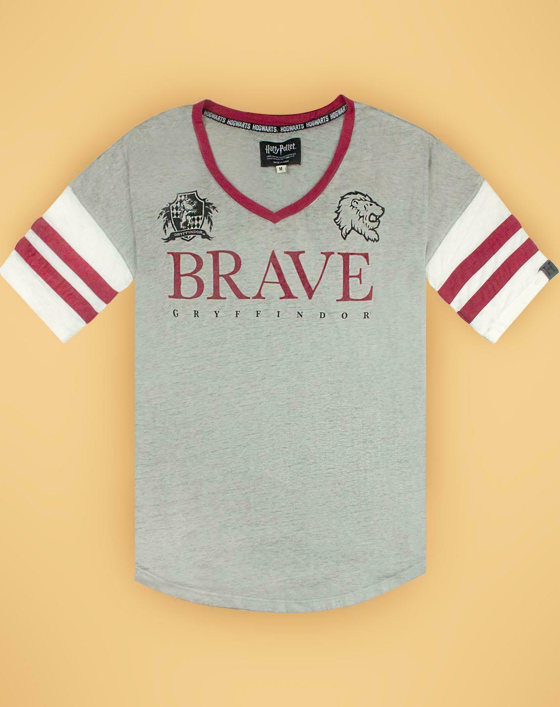 Harry-Potter-Gryffindor-valiente-mujer-dama-Varsity-Camiseta-Tallas-S-XL miniatura 15