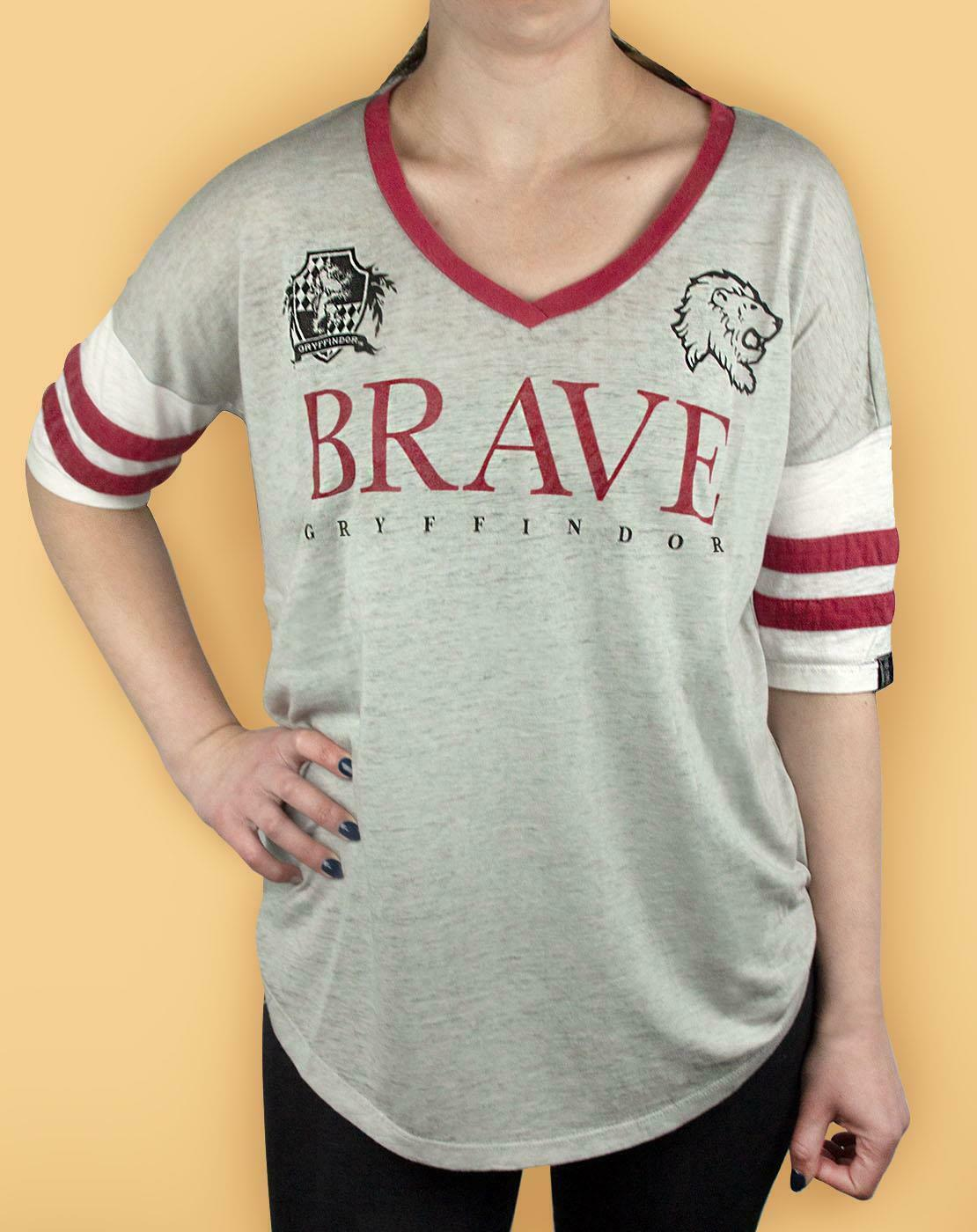 Harry-Potter-Gryffindor-valiente-mujer-dama-Varsity-Camiseta-Tallas-S-XL miniatura 10