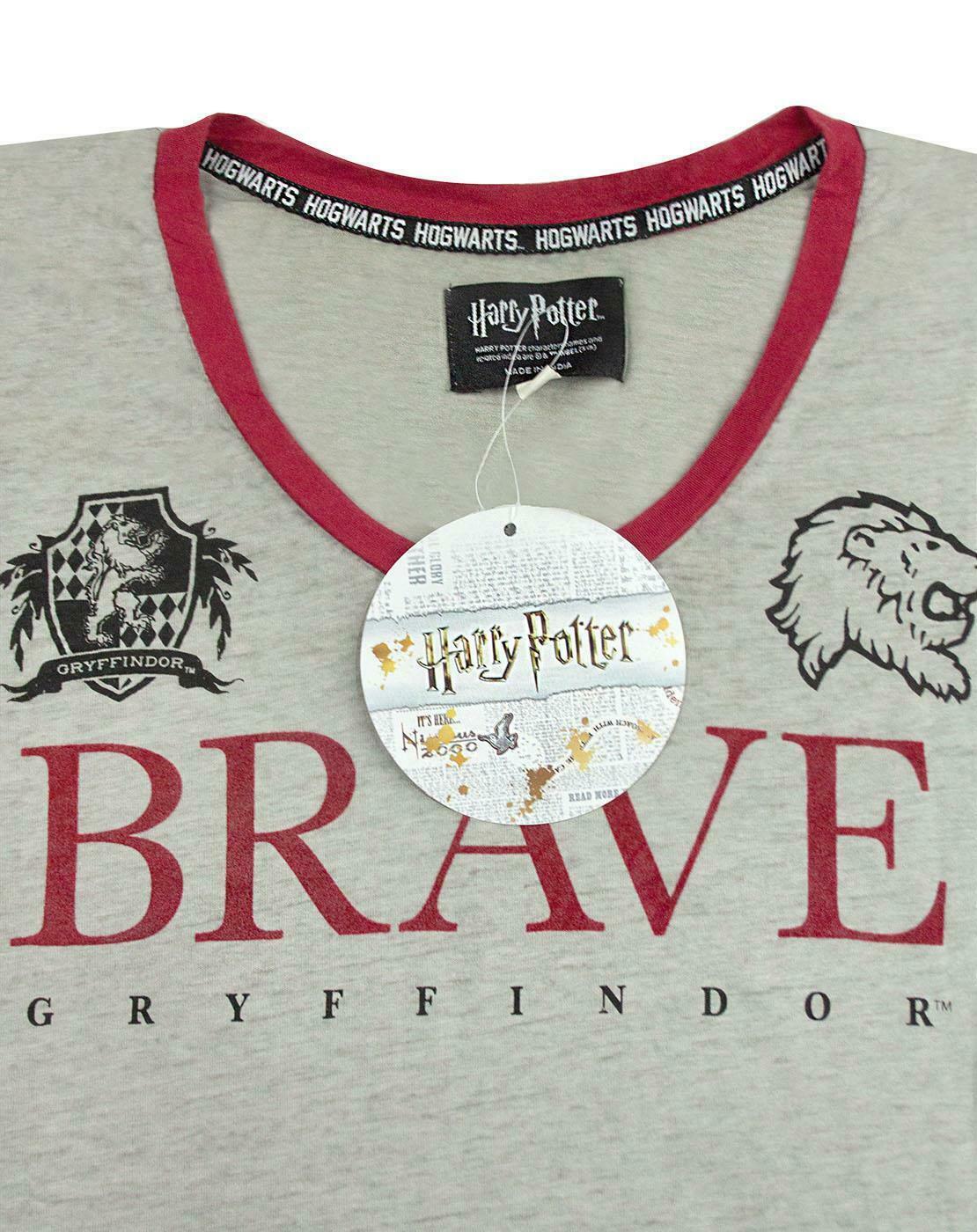 Harry-Potter-Gryffindor-valiente-mujer-dama-Varsity-Camiseta-Tallas-S-XL miniatura 14