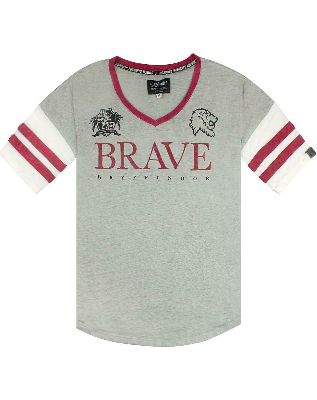 Harry-Potter-Gryffindor-valiente-mujer-dama-Varsity-Camiseta-Tallas-S-XL miniatura 11