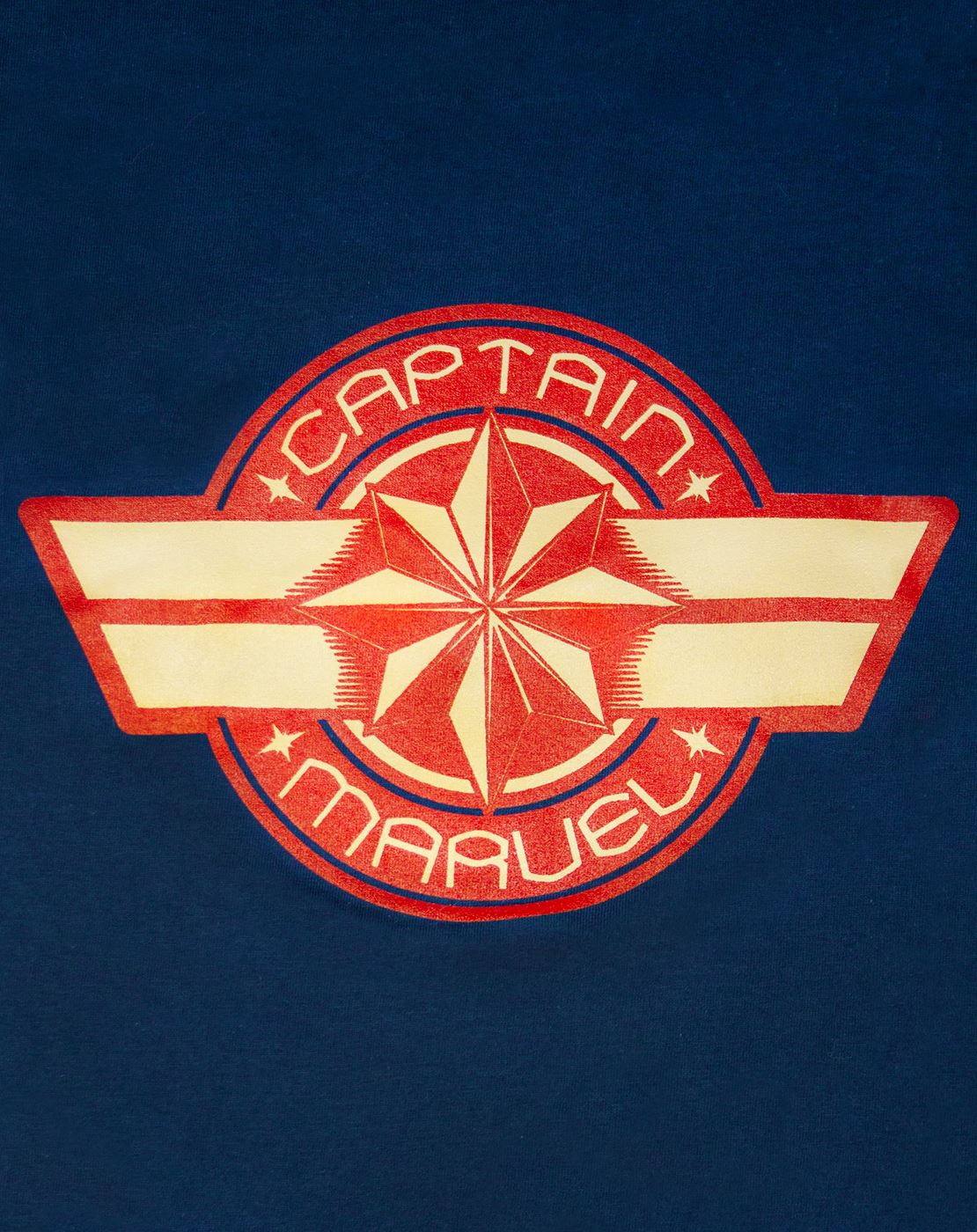 Marvel-Captain-Marvel-Logo-Women-039-s-Navy-Short-Sleeve-T-Shirt thumbnail 7