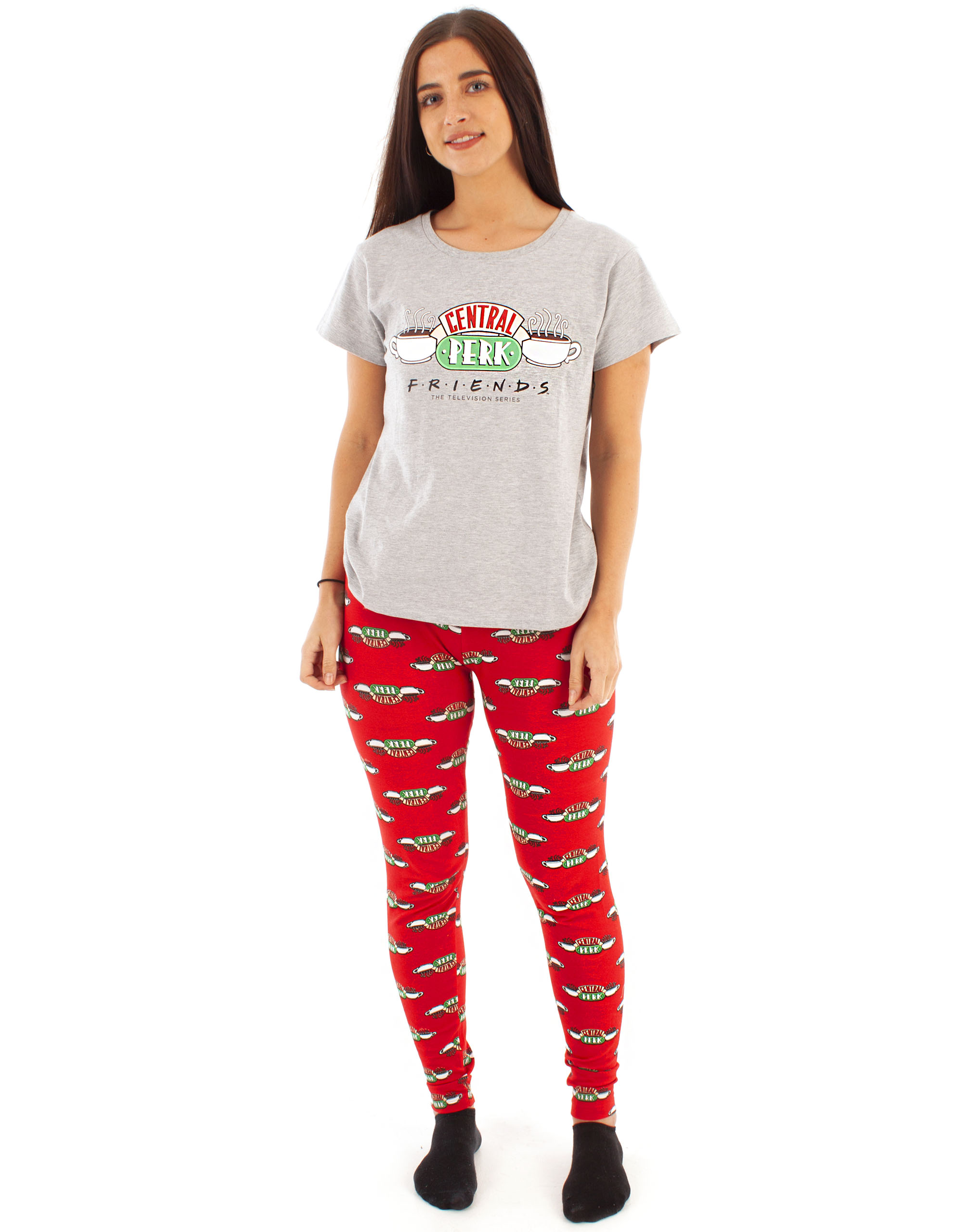 Femme Amis Pyjamas Femmes Central Perk à manches courtes T-shirt pantalon de détente
