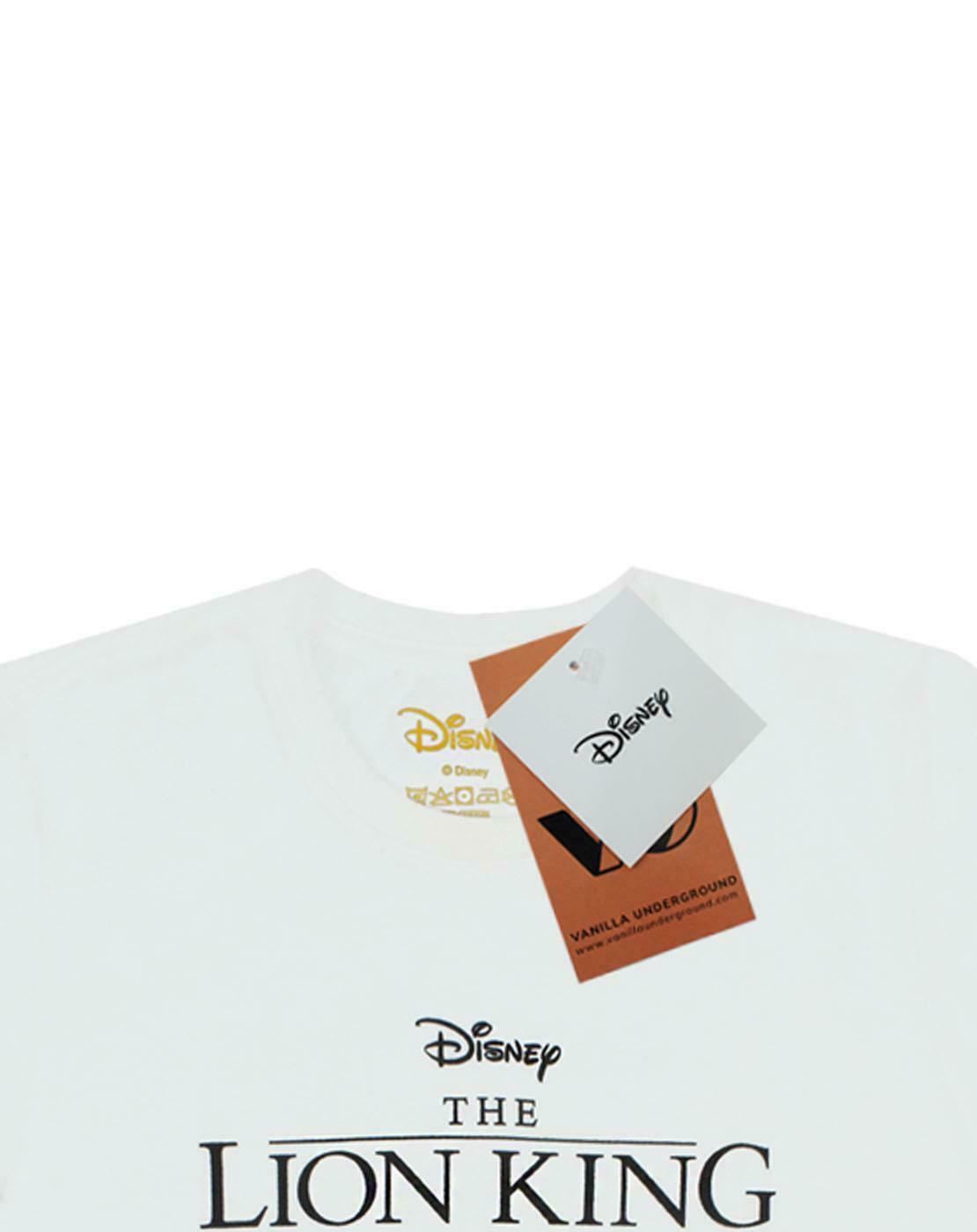 thumbnail 11 - Disney-Lion-King-Simba-Cub-Circle-Of-Life-Women-039-s-Boyfriend-Fit-White-T-Shirt
