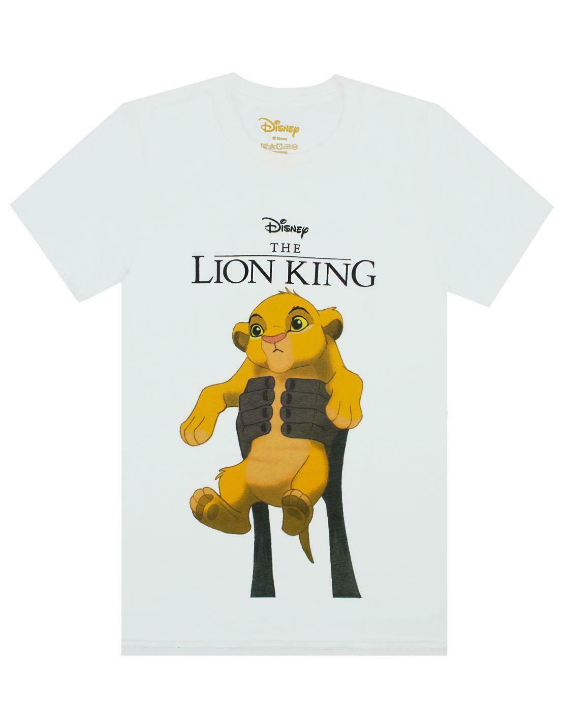thumbnail 9 - Disney-Lion-King-Simba-Cub-Circle-Of-Life-Women-039-s-Boyfriend-Fit-White-T-Shirt