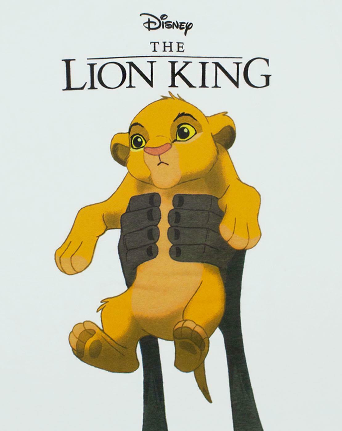 thumbnail 10 - Disney-Lion-King-Simba-Cub-Circle-Of-Life-Women-039-s-Boyfriend-Fit-White-T-Shirt