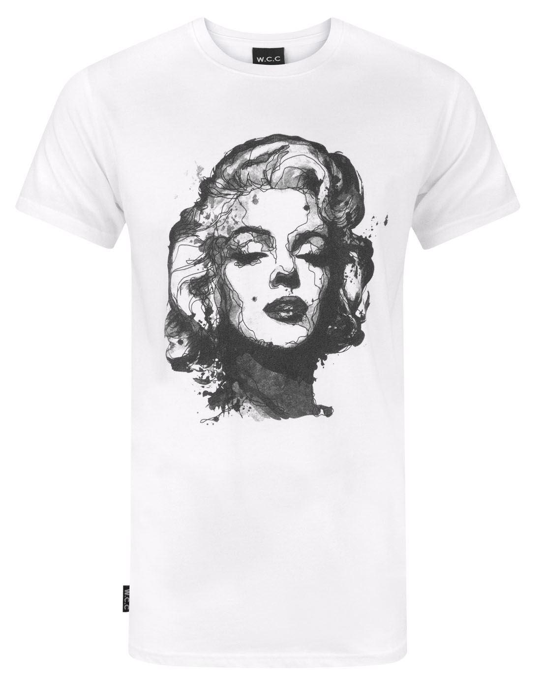 Marilyn Monroe Comic Style White T Shirt Men Woman Unisex BRAND NEW