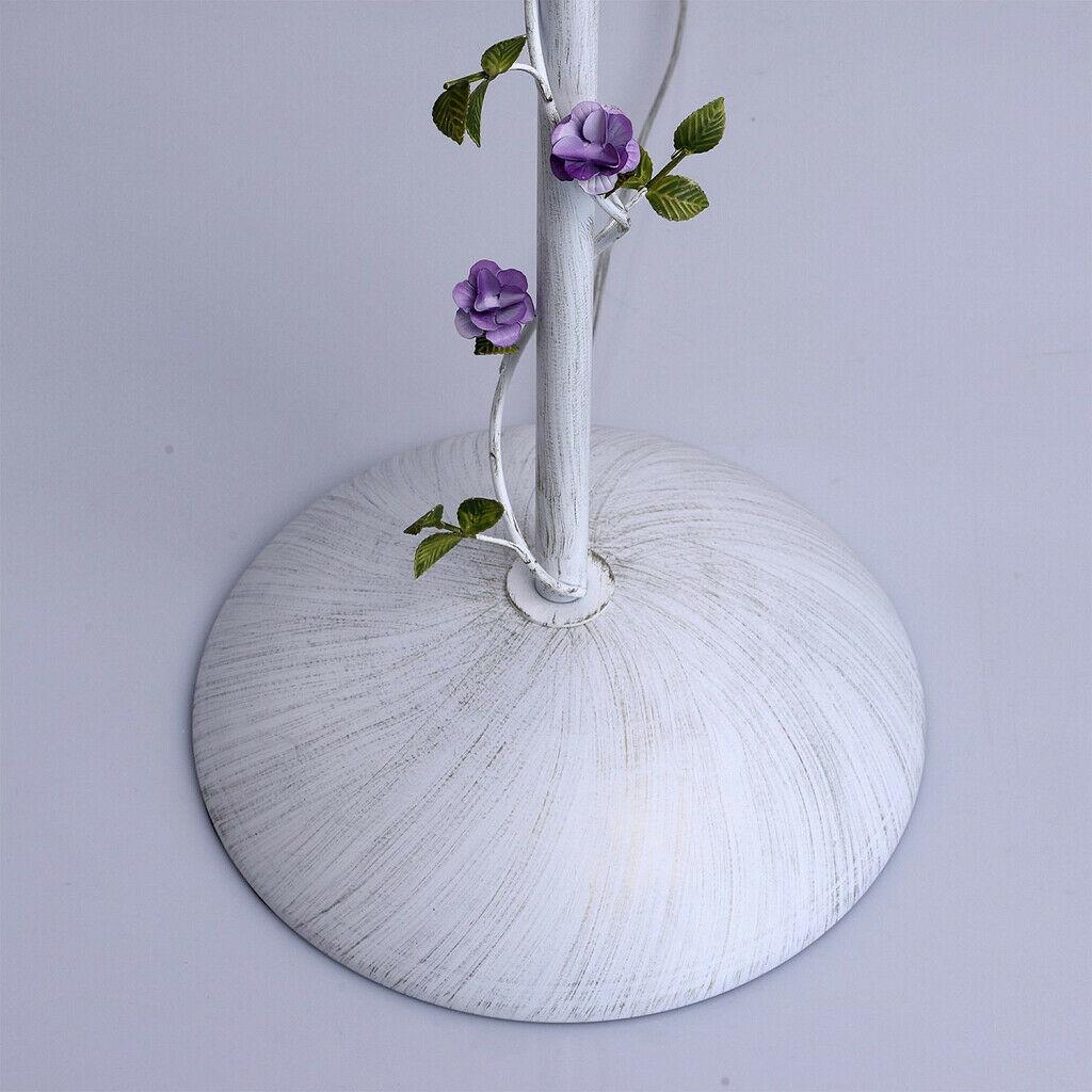 Stehlampe Shabby Weiss Stoff 160cm Blumen Deko Romantische