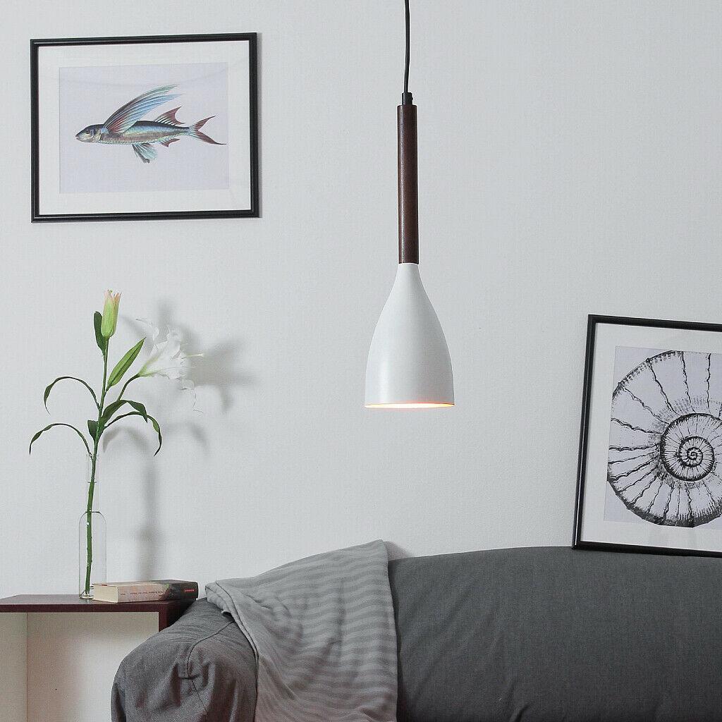 Pendelleuchte Ø11cm in Gold E27 Lampe Modern Decke Hängeleuchte innen Esstisch