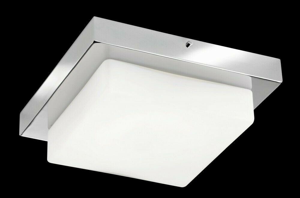 Deckenleuchte in Chrom Modern LED Deckenlampe Decke Leuchte innen Bad Glas NEU   eBay