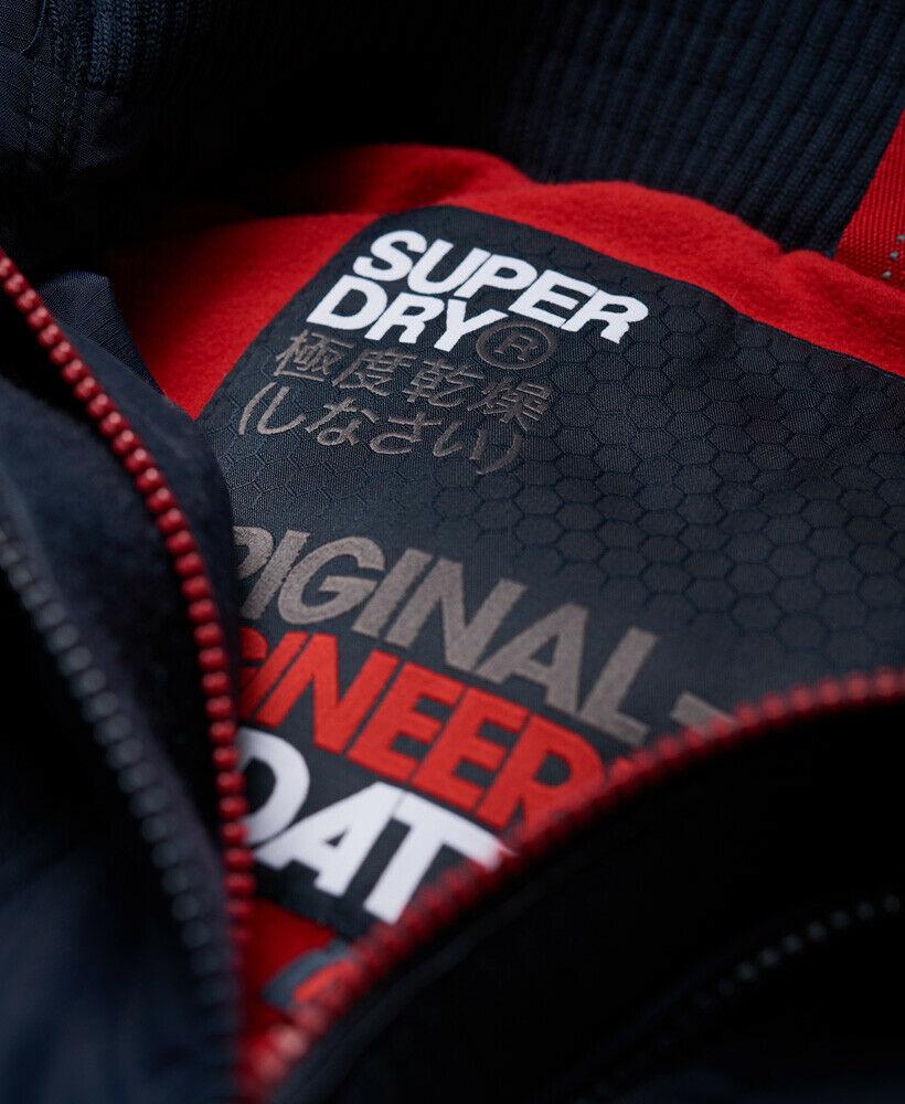 Mens-Superdry-Hooded-Polar-SD-Windattacker-Jacket-Core-Navy thumbnail 11