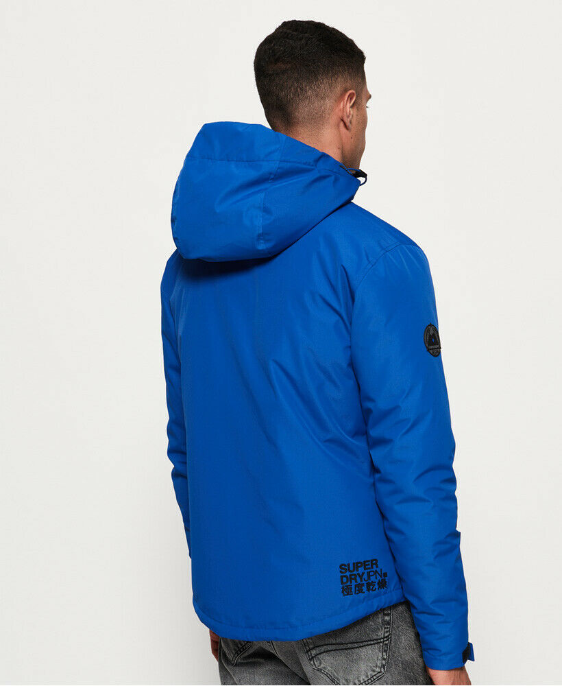 Mens-Superdry-Padded-Elite-SD-Windcheater-Jacket-Electric-Blue thumbnail 14