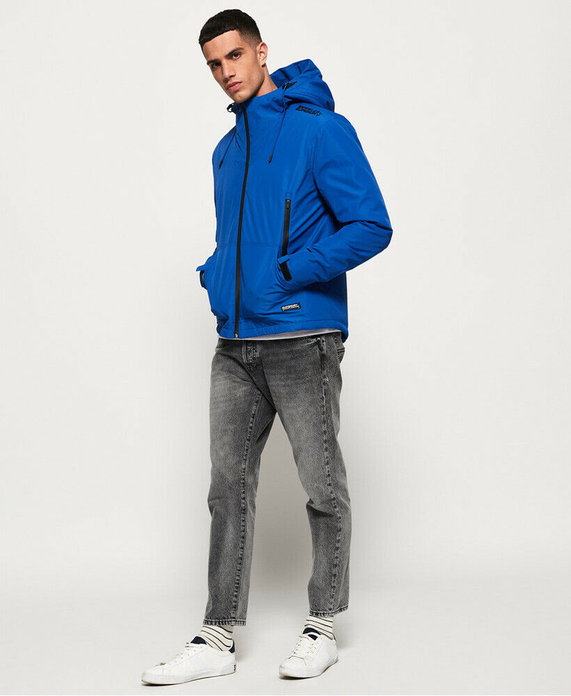Mens-Superdry-Padded-Elite-SD-Windcheater-Jacket-Electric-Blue thumbnail 15