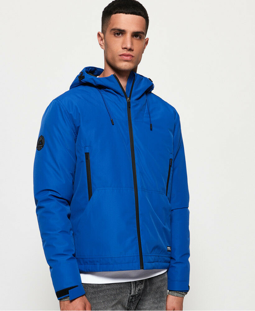 Mens-Superdry-Padded-Elite-SD-Windcheater-Jacket-Electric-Blue thumbnail 32