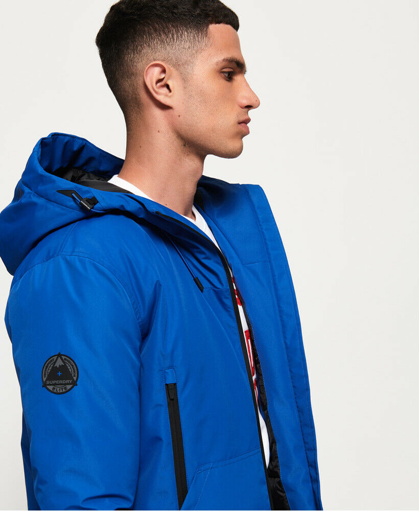Mens-Superdry-Padded-Elite-SD-Windcheater-Jacket-Electric-Blue thumbnail 34