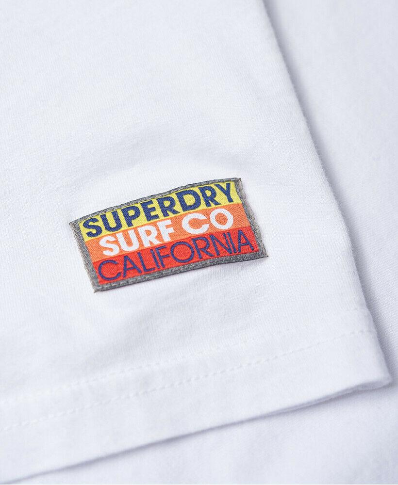 Mens-Superdry-Super-Surf-Lite-T-Shirt-Optic thumbnail 17