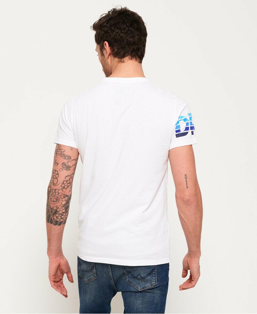 Mens-Superdry-Super-Surf-Lite-T-Shirt-Optic thumbnail 14
