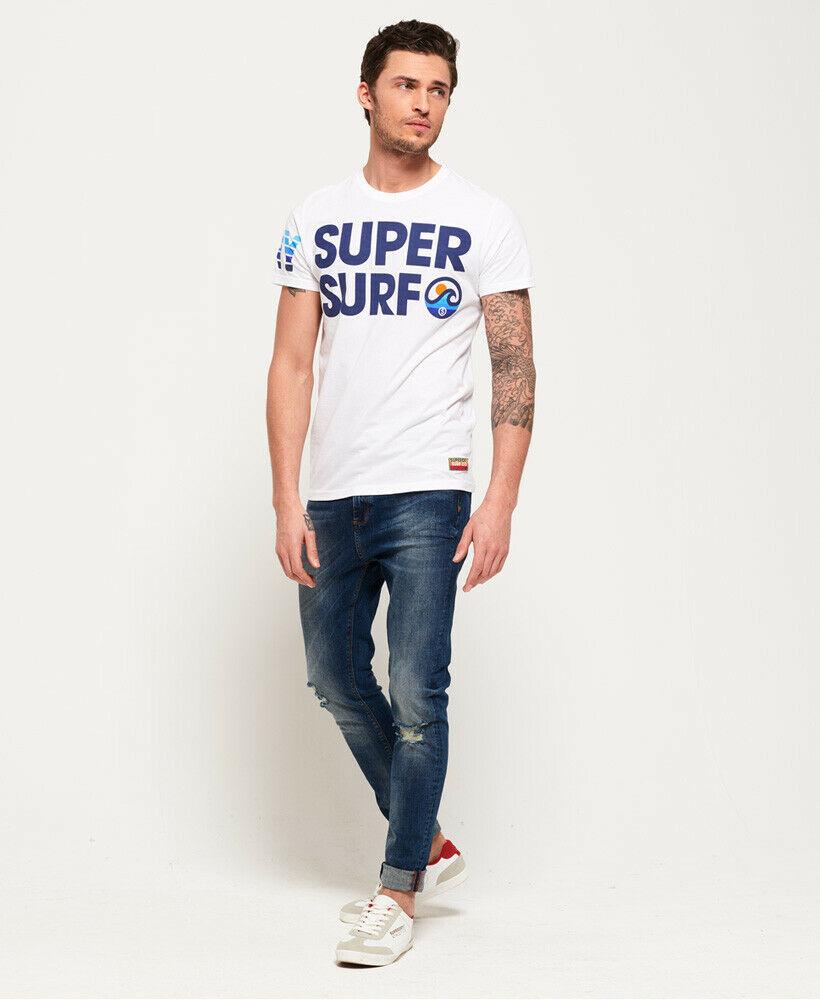 Mens-Superdry-Super-Surf-Lite-T-Shirt-Optic thumbnail 21