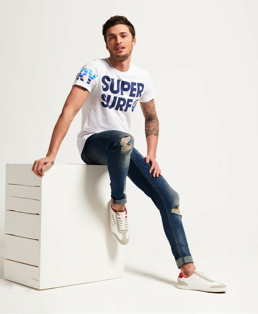Mens-Superdry-Super-Surf-Lite-T-Shirt-Optic thumbnail 33