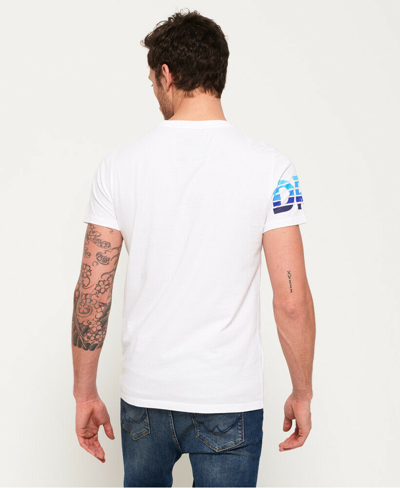 Mens-Superdry-Super-Surf-Lite-T-Shirt-Optic thumbnail 59