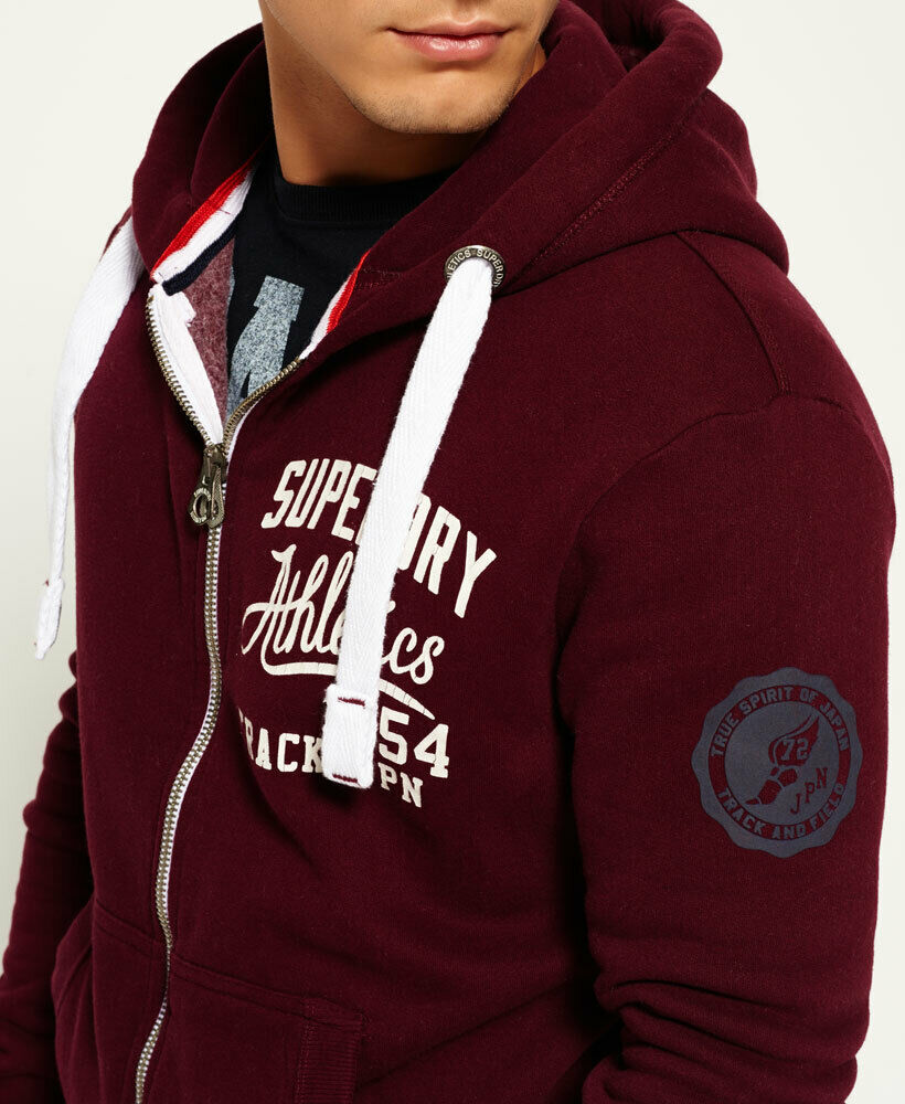 Mens-Superdry-Trackster-Zip-Hoodie-Port thumbnail 11