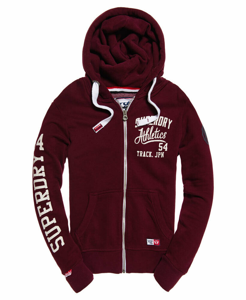 Mens-Superdry-Trackster-Zip-Hoodie-Port thumbnail 9