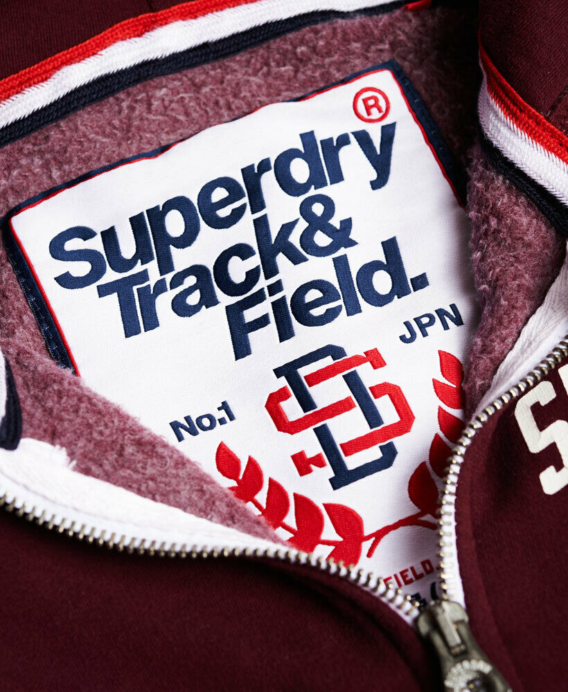 Mens-Superdry-Trackster-Zip-Hoodie-Port thumbnail 19