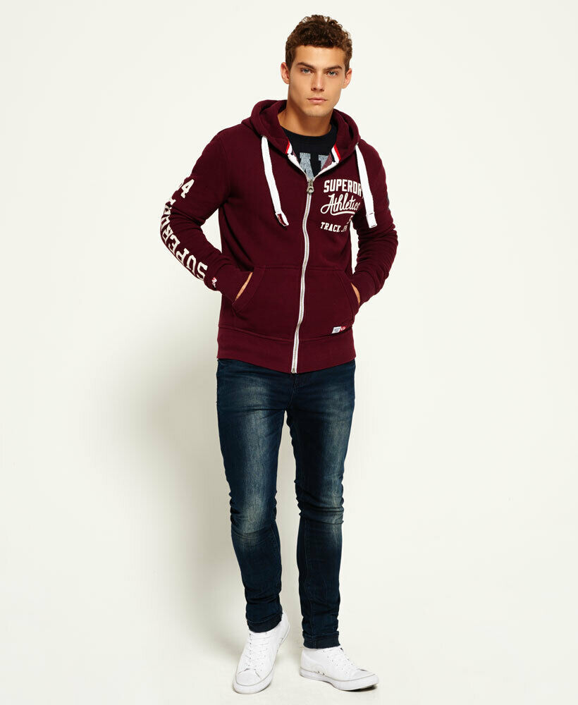 Mens-Superdry-Trackster-Zip-Hoodie-Port thumbnail 17