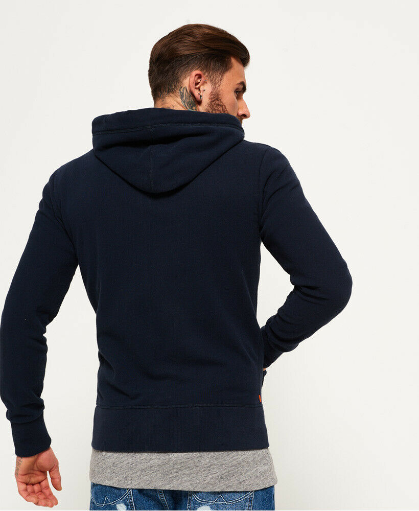 Mens-Superdry-Orange-Label-Lite-Zip-Hoodie-Three-Pointer-Navy thumbnail 10