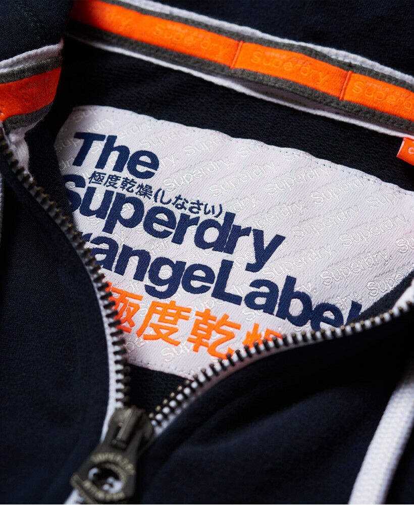 Mens-Superdry-Orange-Label-Lite-Zip-Hoodie-Three-Pointer-Navy thumbnail 15
