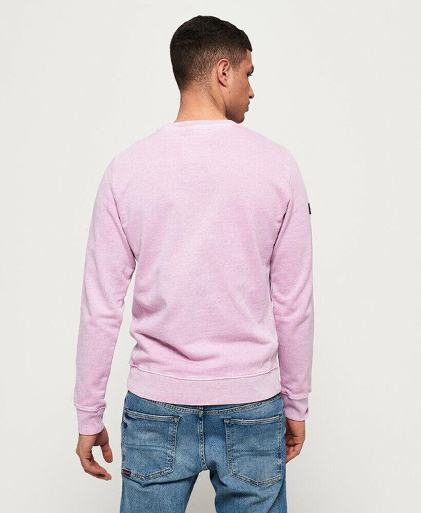 Mens-Superdry-Dry-Originals-Crew-Sweatshirt-Powder-Pink thumbnail 14