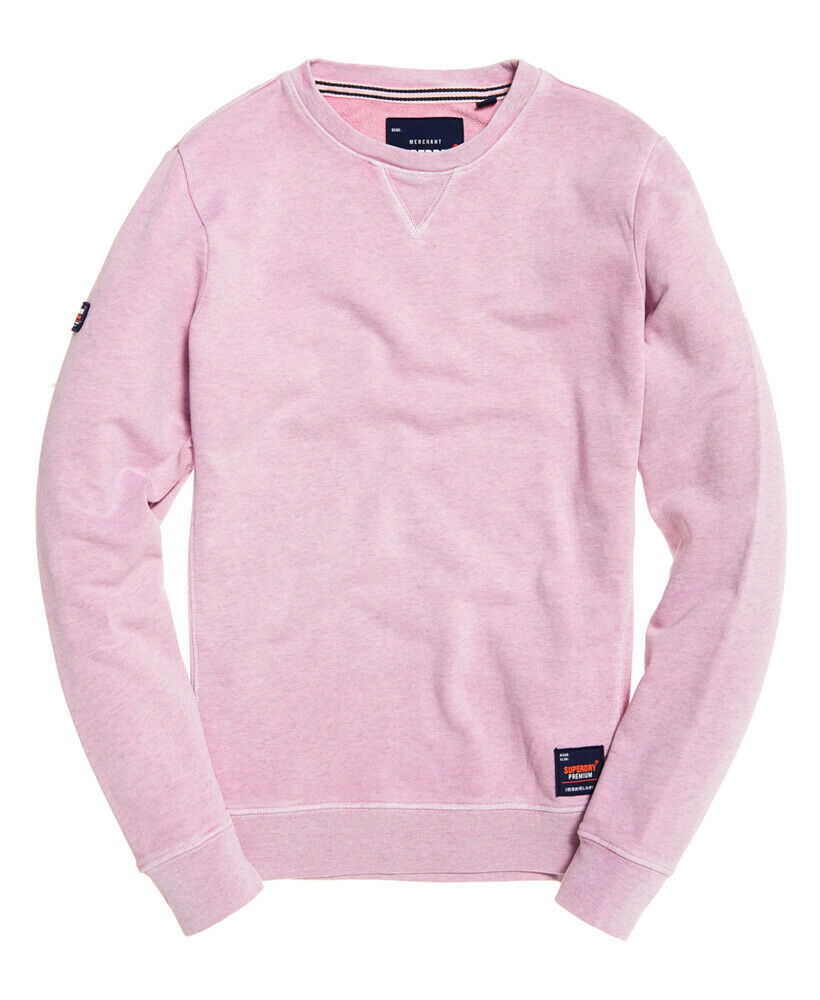 Mens-Superdry-Dry-Originals-Crew-Sweatshirt-Powder-Pink thumbnail 16