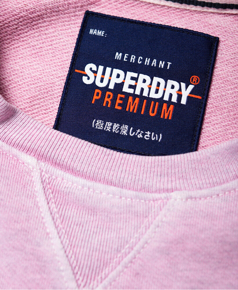Mens-Superdry-Dry-Originals-Crew-Sweatshirt-Powder-Pink thumbnail 19
