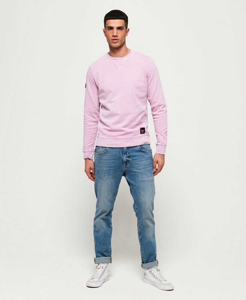 Mens-Superdry-Dry-Originals-Crew-Sweatshirt-Powder-Pink thumbnail 23